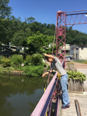 Sampling on Sparkill Creek at Old Drawbridge