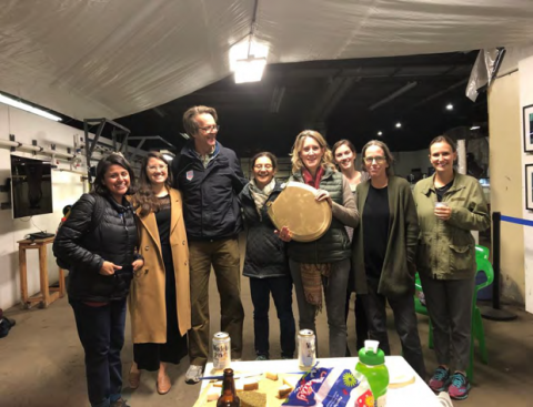 The Lower Raritan Watershed Partnership's 2019 data was added to New York City Water Trail Association's dataset.  They received the Golden Toilet Award for the highest sampled Enterococcus concentrations of the season. (Photo Credit: The River Project)
